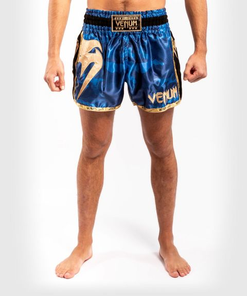 Muay Thai Shorts Venum Giant Camo - Blau/Gold