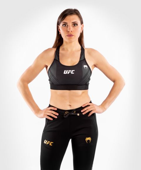 UFC Venum Authentic Fight Night Damen Sport-BH - Schwarz