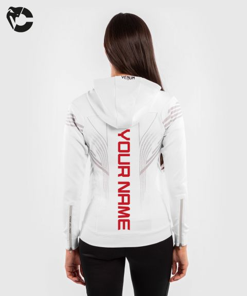 UFC Venum Personalized Authentic Fight Night Women's Walkout Hoodie - White