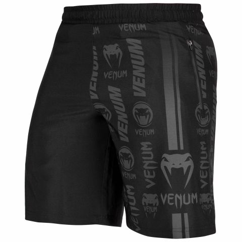 Venum Logos Training Shorts - Black/Black