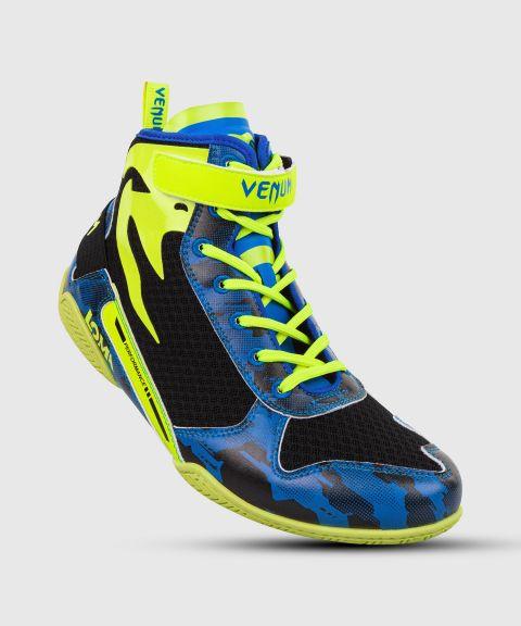 Zapatillas de boxeo Venum Giant edición Low Loma - Azul/Amarillo