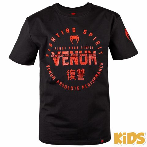 Venum Signature Kids T-shirt - Black/Red