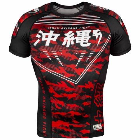 Rashguard Okinawa 2.0 Kurzarm - Schwarz/Weiß-Rot
