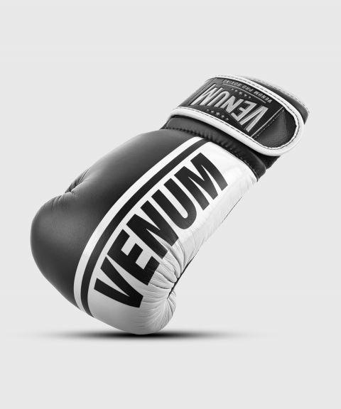 Venum Shield professionelle Boxhandschuhe - Klettverschluss - Schwarz/Weiß