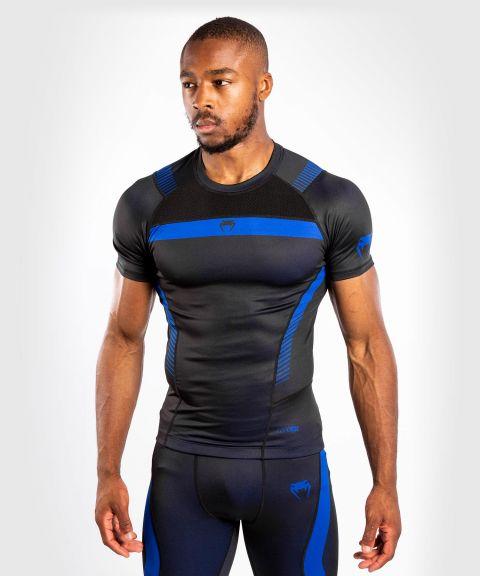 T-shirt de Compression Venum NoGi 3.0 - Manches Courtes - Noir/Bleu