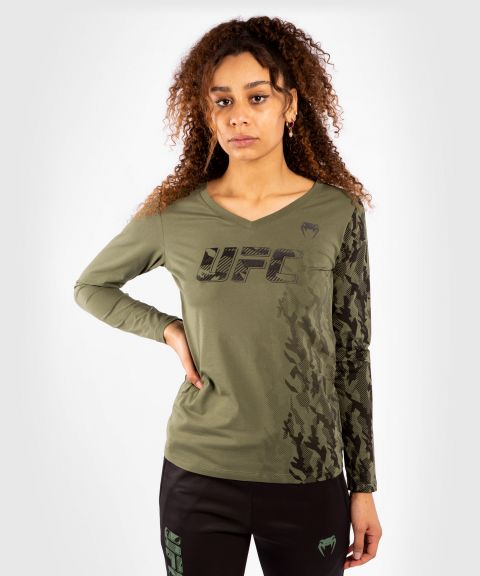 UFC Venum Authentic Fight Week Damen Langarm T-Shirt - Khaki