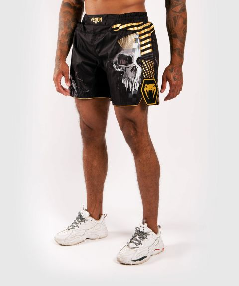 Shorts de combate Venum Skull - Negro