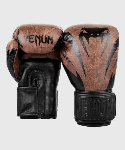 Guantes de Boxeo Venum Impact  - Negro/Marrón