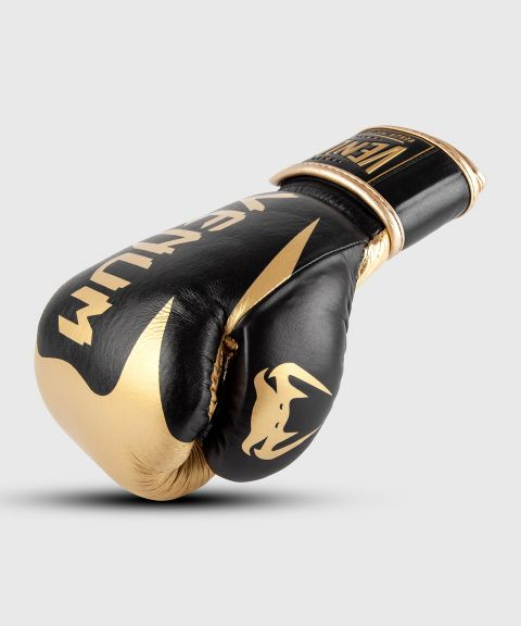 Venum Hammer Pro bokshandschoenen klittenband - Zwart/Goud