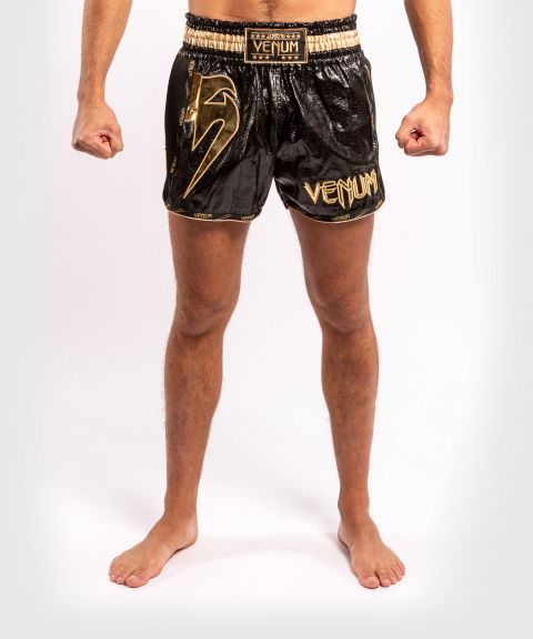 Muay Thai Shorts Venum Giant Foil - Schwazr/Gold