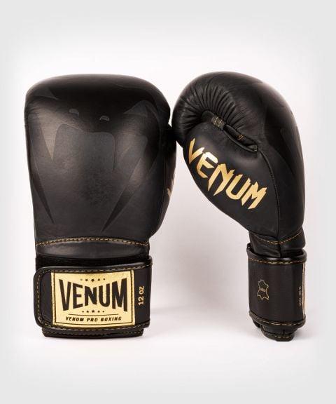 Venum Giant 2.0 professionelle Boxhandschuhe - Klettverschluss - Schwarz/Swcharz-Gold