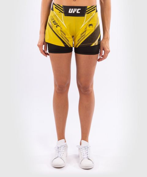 Fightshort Femme UFC Venum Authentic Fight Night - Coupe Courte - Jaune
