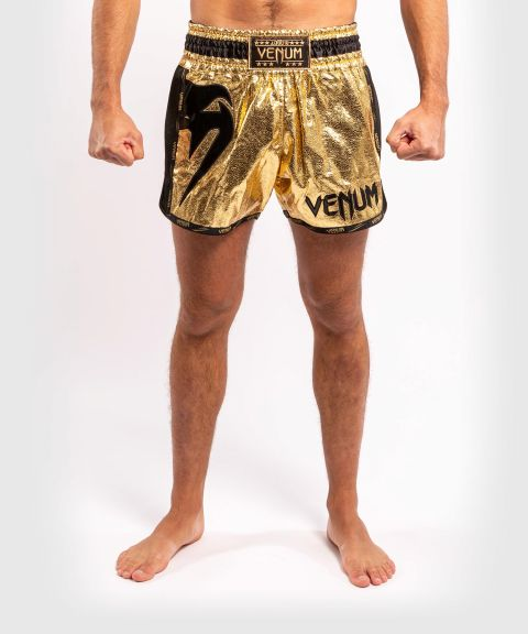 Muay Thai Shorts Venum Giant Foil - Gold/Schwarz