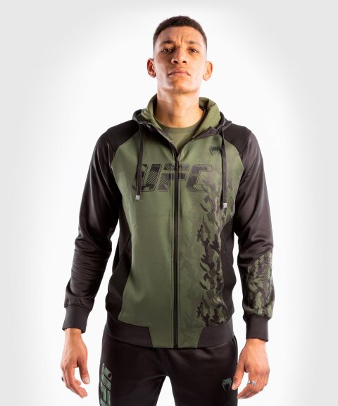 Felpa Con Cappuccio Con Zip Uomo UFC Venum Authentic Fight Week - Verde
