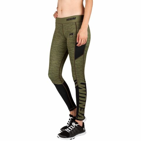 Venum Power 2.0 Leggings - For Women - Khaki/Black
