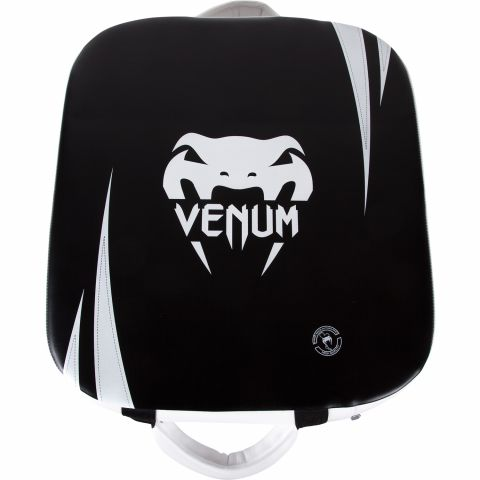 Venum Absolute Square Kick Shield - Skintex Leather - Black/Ice