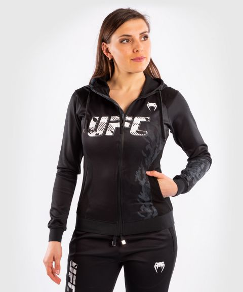 Felpa Con Cappuccio Con Zip Donna UFC Venum Authentic Fight Week - Nero