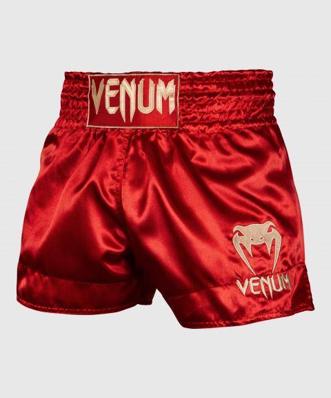 Pantaloncini Muay Thai Classic Venum - Bordeaux/Oro