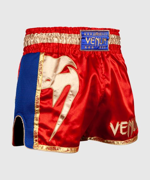 Pantalones Cortos de Muay Thai Venum Giant - Rojo/Oro