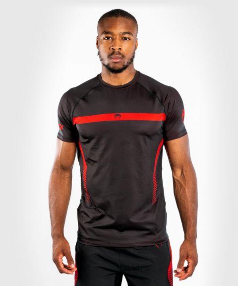 Venum No Gi 3.0 Dry-Tech T-Shirt - Schwarz/Rot