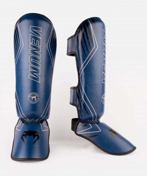 Venum Contender 2.0 Shin Guards - Marineblau/sand
