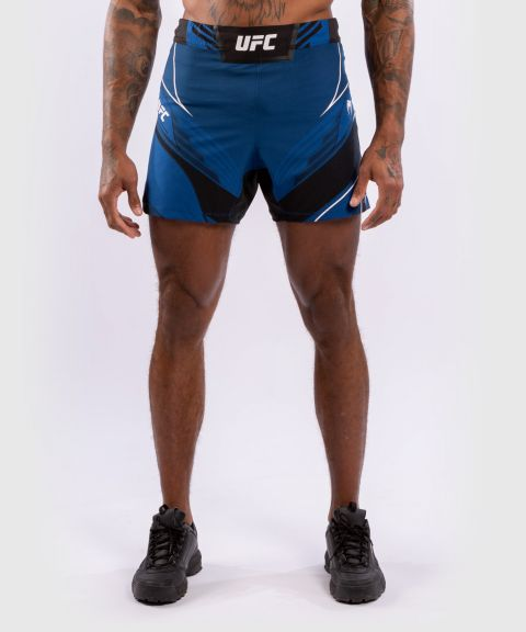 Fightshorts Uomo UFC Venum Authentic Fight Night - Vestibilità Corta - Blu