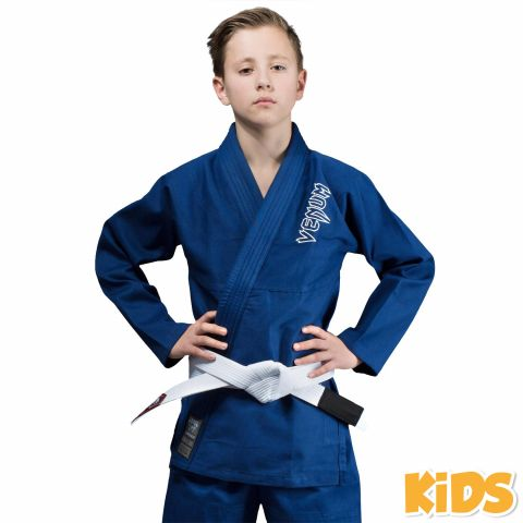 Kimono JJB enfant Venum Contender + Ceinture blanche offerte - Bleu