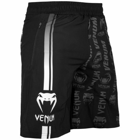 Venum Logos Training Shorts - Black/White