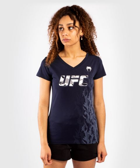 UFC Venum Authentic Fight Week Damen Kurzarm T-Shirt - Marineblau