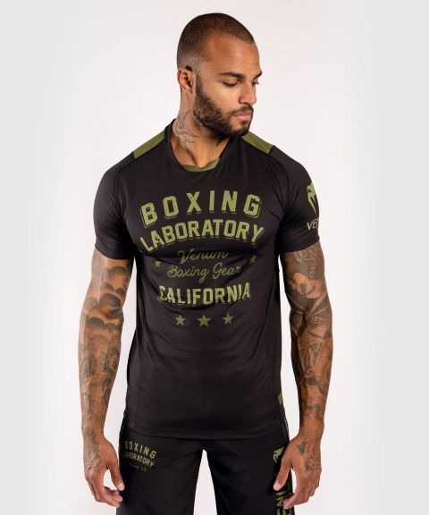Camiseta Dry-Tech Venum Boxing Lab - Negro/Verde