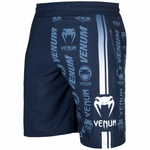 Venum Logos Training Shorts - Navy Blue/White