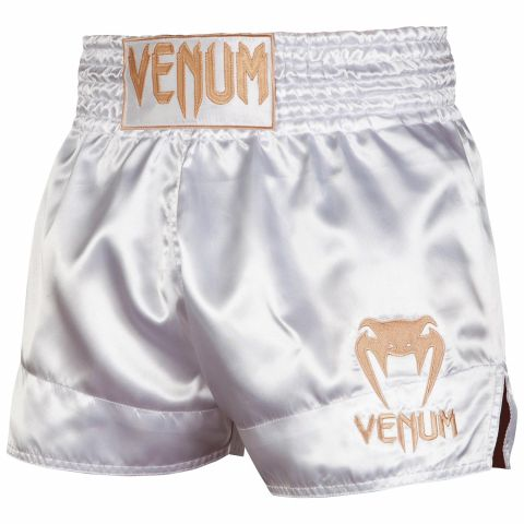 Pantaloncini Muay Thai Classic Venum - Bianco/Oro