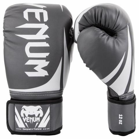 Venum Challenger 2.0 Boxing Gloves - Grey/White-Black