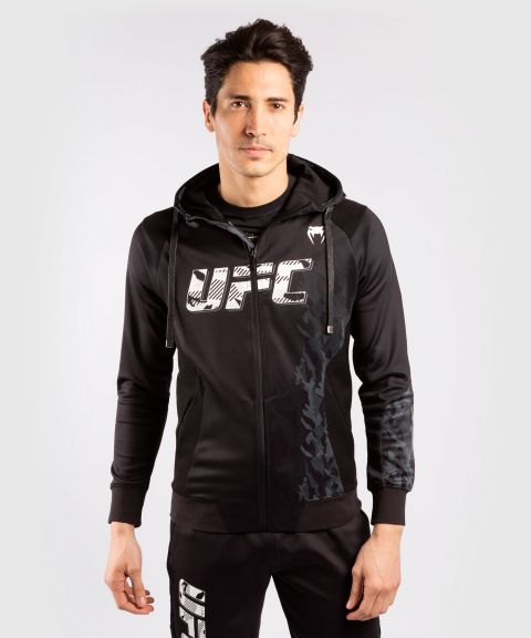 Felpa Con Cappuccio Con Zip Uomo UFC Venum Authentic Fight Week - Nero