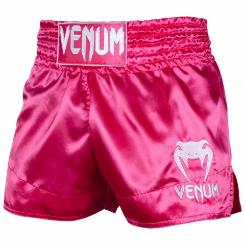 Pantaloncini Muay Thai Classic Venum - Rosa/Bianco