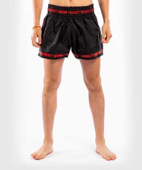 Pantalones cortos Venum Muay Thai Parachute - Negro/Rojo