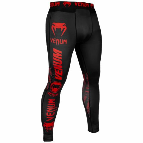 Pantalon de compression Venum Logos - Noir/Rouge