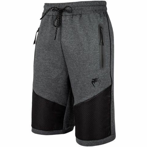 Venum Tramo Baumwoll-Shorts - Schwarz/Grau - Dunkles Heidegrau
