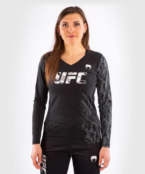 UFC Venum Authentic Fight Week Damen Langarm T-Shirt - Schwarz