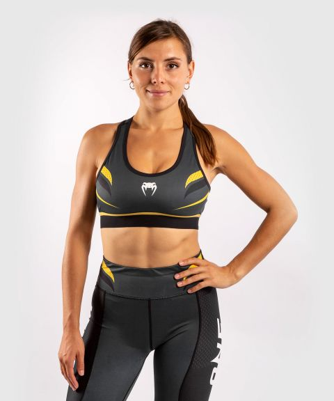 Venum ONE FC Impact Sport Bra - Grey/Yellow
