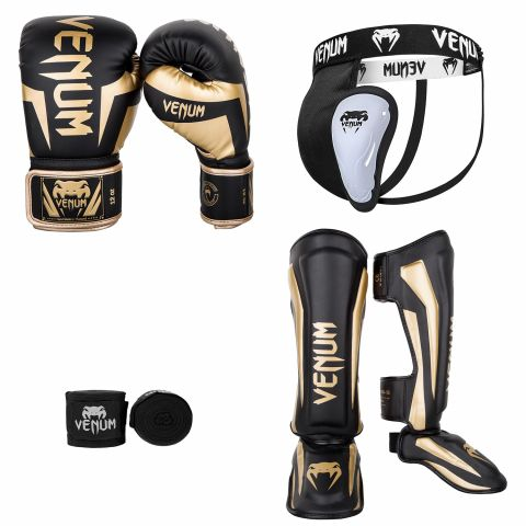 Pack Kick Boxing Elite - Noir/Or 2