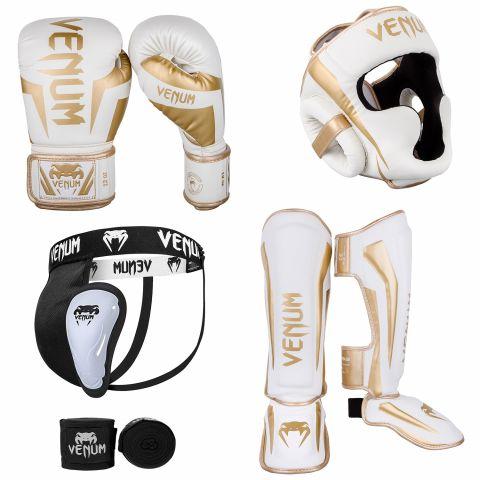 Pack Venum Elite Protection - Blanc/Doré