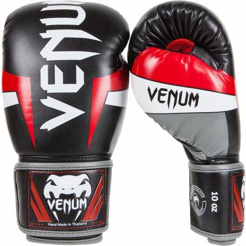 Guantoni da boxe Venum Elite - Nero/Rosso/Bianco