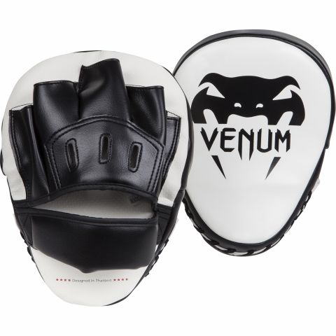 Venum Light Handpratzen - Weiß/Schwarz (Paar)