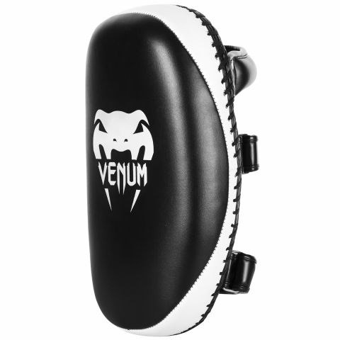 Venum Light Kick Pads - Skintex Leder - Schwarz/Icefarben (Paar)