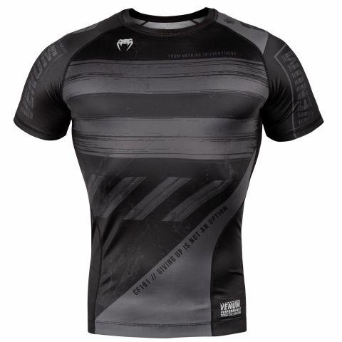 T-shirt a compressione Venum AMRAP - Maniche corte - Nero/Grigio