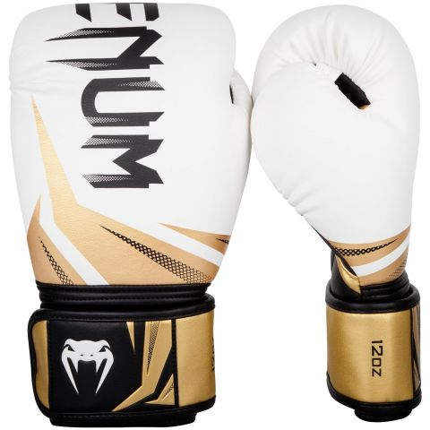 Venum Challenger 3.0 Boxing Gloves - White/Gold