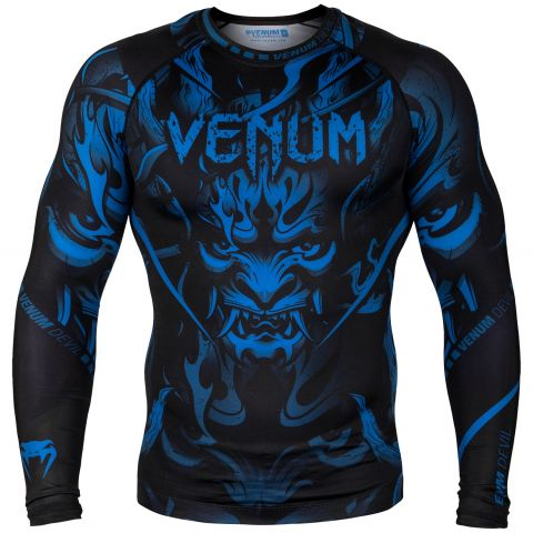 Venum Devil Rashguard - Long Sleeves - Navy Blue/Black