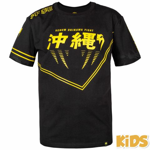 Venum Okinawa 2.0 Kids T-shirt - Black/Yellow - Exclusive