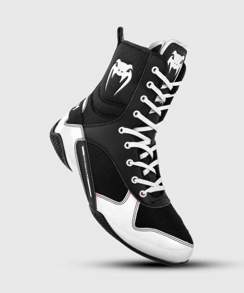 Venum Elite Boxing Shoes - Black/White